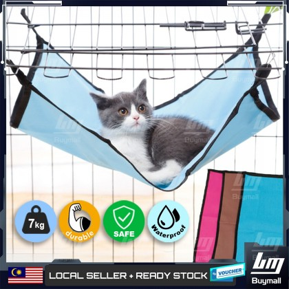 BUYMALL Malaysia Kitten Cat Comfy Hammock Cage Bed Mat Cat Bed Tilam Kucing Good Quality Cat Frame Cat Bed Cat Rest Clothes