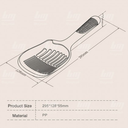 BUYMALL Malaysia Cat Litter Scoop Non Stick ABS Kitty Plastic Scooper Deep Shovel Long Handle Poop Sifting Kitten Pooper Lifter